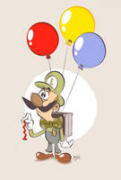 Balloon Luigi by Themrock
