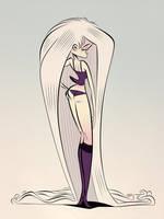 Tall Goth Girl by Themrock