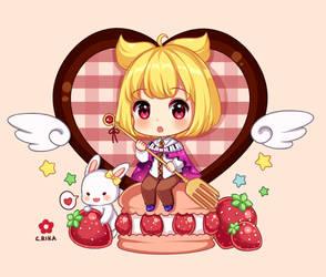 YCH-Macaron Angel by ChiridoRika