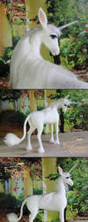 The Last Unicorn - needle felted - (sold) by Finya-Vardeen
