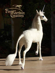 004 The White Lady - needle felted by Finya-Vardeen