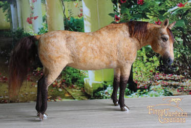 Horse Gelding 'Daggi' - needle felted by Finya-Vardeen