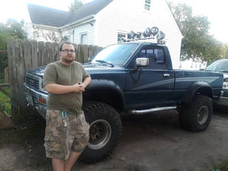 Me and my 1990 Toyota SR5 by 24cynder1998