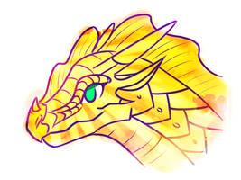 Sunny Dragoness by ChrispyCookie