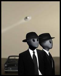 Aliens in Black by ABVH