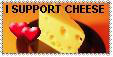 Stamp: I Support Cheese 8D by xxsomeoneelsexx