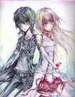 Kirito and asuna by oo-liquidblue-oo