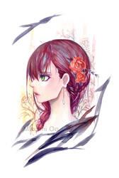 Red Portrait by oo-liquidblue-oo