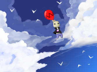 Sky Town sackboy by Jump-Button