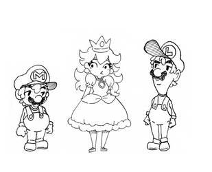 Inktober 2017 Week 4 Mario by Jump-Button