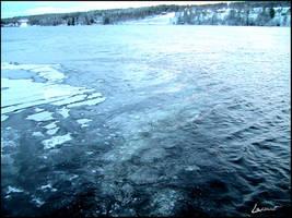 Blue Frozen River by LeSsArt