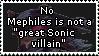 Mephiles fails at being a good villain. by Vertekins