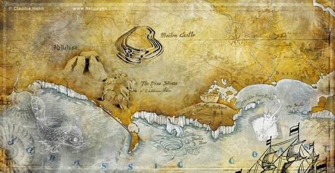 Jurassic Coast Map by Heliocyan