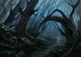 Spooky forest by Mellon007