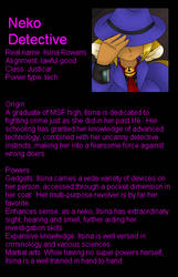 Neko Detective character sheet/interview by LordTHawkeye