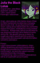 Julia character sheet/interview by LordTHawkeye