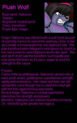 Plush Wolf bio by LordTHawkeye