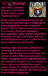 Kaiser bio by LordTHawkeye