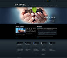 Intratel website layout by tysmin