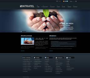 Intratel website layout by tysmin