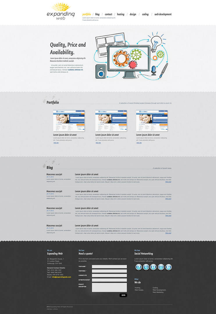 Webpage layout by tysmin