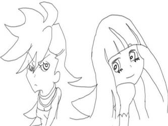 Panty and Stocking Sketch by RLP88
