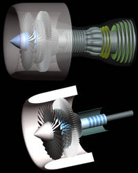 Turbine engine model by Krazzt