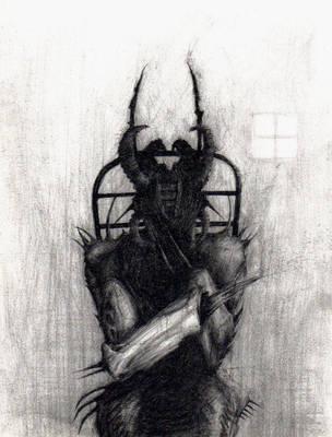 devil on a chair by Krazzt