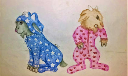 Baby Goats in Pajamas by lotrfanforlife