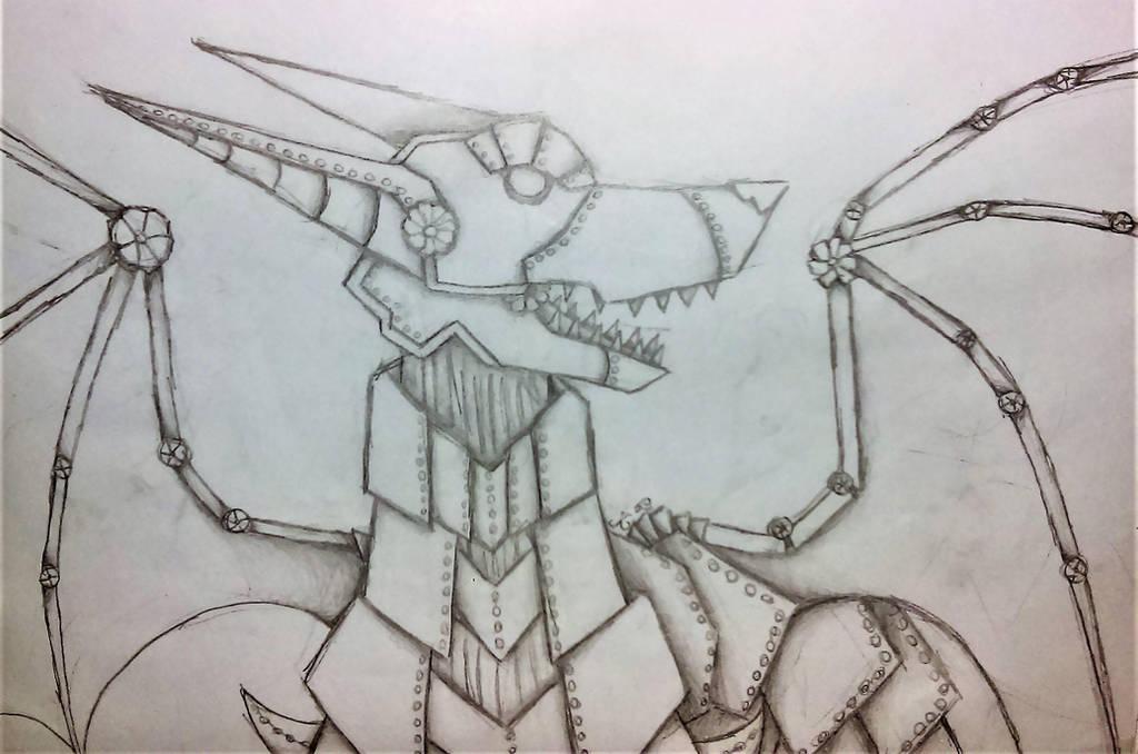 Mechanical Dingo Dragon by lotrfanforlife