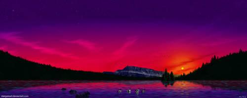 Sunset Swim by stargateatl