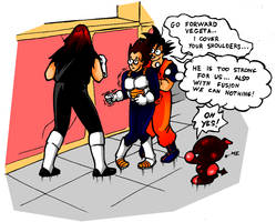 Undertaker VS stupid saiyajins by DarkMetaller