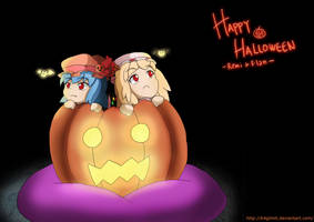 Remilia and Flandre Halloween by k4glimit