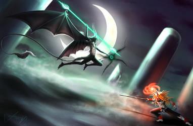 Ulquiorra vs Ichigo by AuroraArchangel369