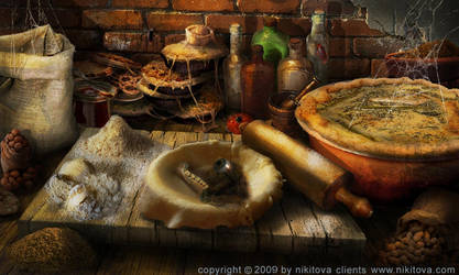 Sweeney Todd Kitchen counter by Katie-Watersell