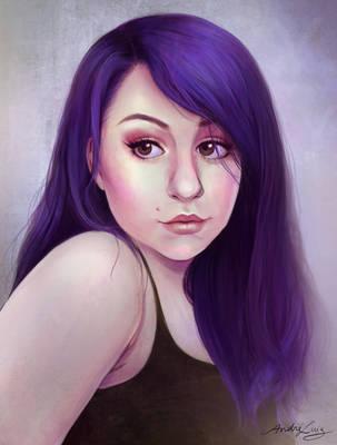 Purple Girl by AndreLuizBarbosa