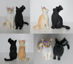 Cat Wedding Cake Toppers by BeanieBat