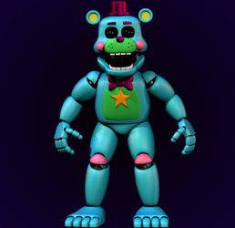 Rockstar Blacklight Freddy by Yosho-DA
