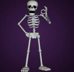 Spooky Scary Skeleton by yoshipower879
