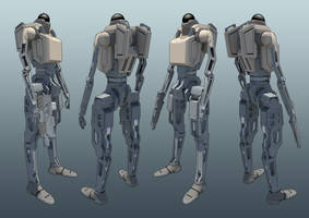 Bipedal Unmanned Ground System by Greenstuff-Alex