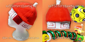 Arms MinMin Fleece Beanie Hat Cosplay Handmade by Alien-Snowflake