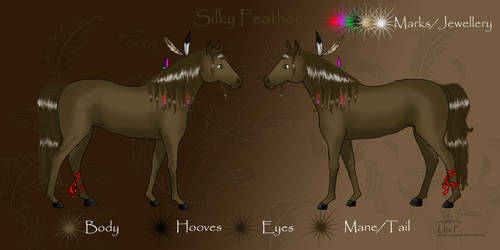 Silky Feather Reference Sheet by SeraphimCrystal