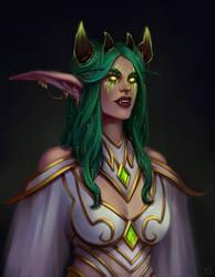 Tyrande, priestess of Sargeras by ammatice