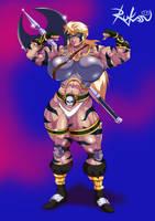 Commission: Brigantia - The Barbarian Warrior by Rukasusan