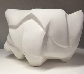 Abstract Plaster Sculpture by sackofsquan