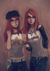 Redheads, Glasses, and Raglans by oshirockingham