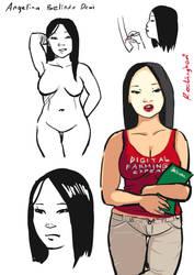 Sketch Draft: Dewi by oshirockingham