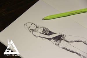 Michele on Sketchbook by oshirockingham