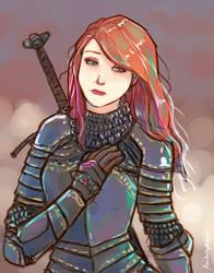 Armored Redhead by oshirockingham