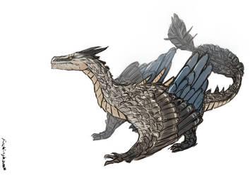 Female Dragon by oshirockingham